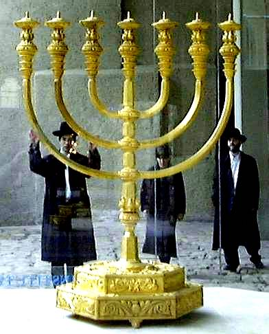 Golden Replica of the Temple Menorah