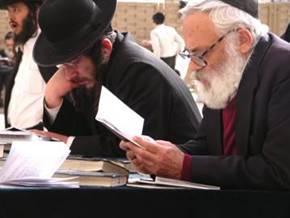 Orthodox Jews at the Wailing Wall