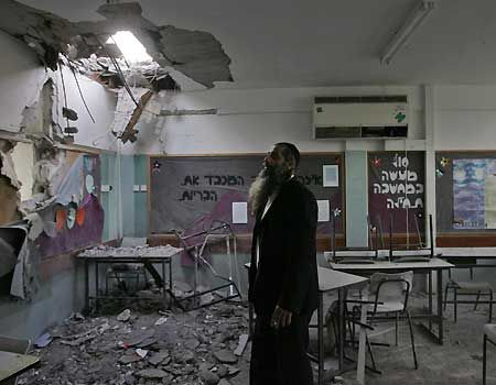 Gaza Rockets hits Orthodox Jewish School