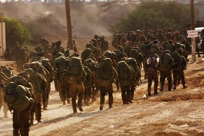 IDF Reservists heading to the Gaza Border