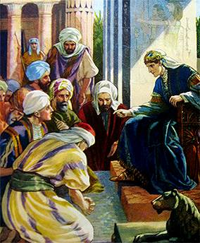 Joseph the Vizier of Egypt with his Ten Brothers