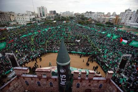 Hamas Islamist Leader Khaled Meshaal Gaza 2