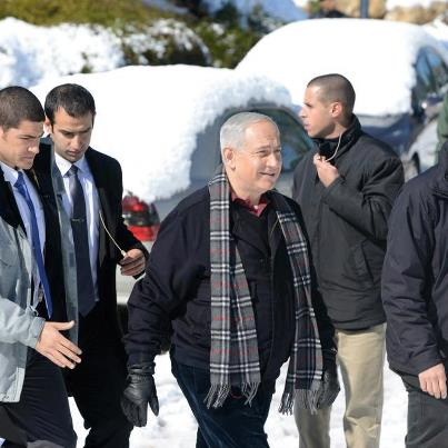 Prime Minister Benyamin Netanyahu Visits Snow Laden Regions