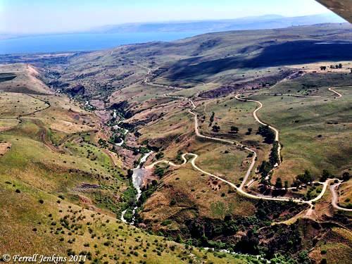 Jordan River Valley north of the Sea of Galilee