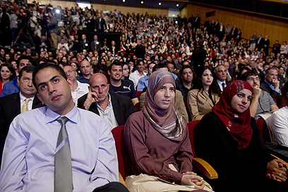 Israeli Students listening to the President of the United States