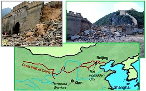 Collapsing Ancient Wall of China