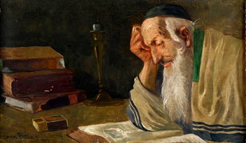 Rabbi studying Torah