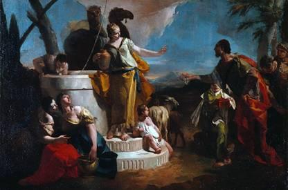 Eliezar, Abraham's Servant meets Rebecca