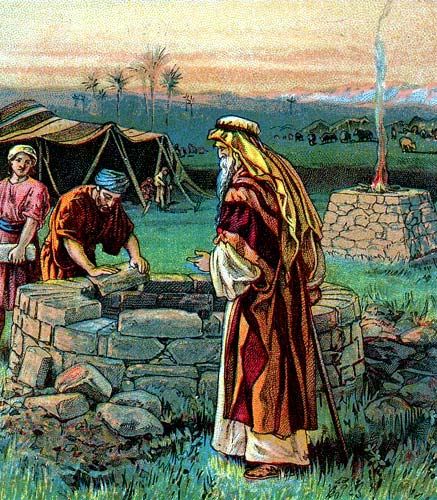 Patriarch Isaac building a Well