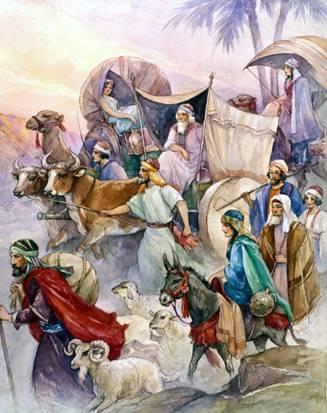Patriarch Jacob moves to Egypt