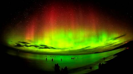 Northern Lights by Sun's Solar Flares