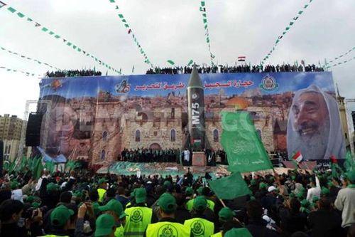 Hamas Islamist Leader Khaled Meshaal in Gaza
