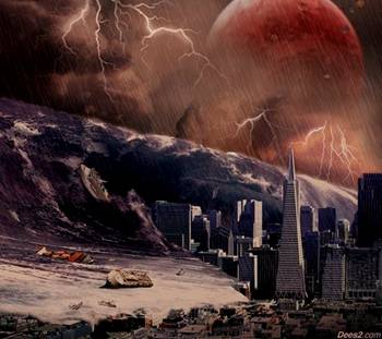 Tsunami from the Catastrophic Forces of Planet X