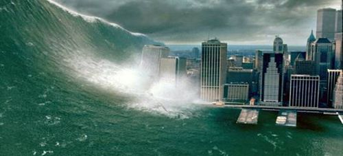 "Mega-Tsunami from ""Deep Impact"" hits New York City"