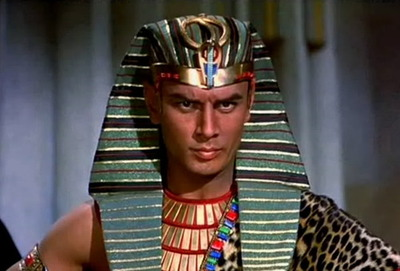 Yul Brynner Pharaoh who refused to Let Israel go