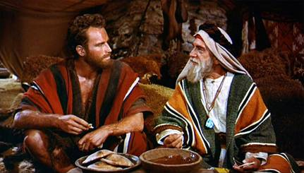 Midianite Priest Jethro with Moses near Horeb