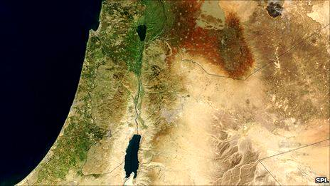 Satellite Image Israel