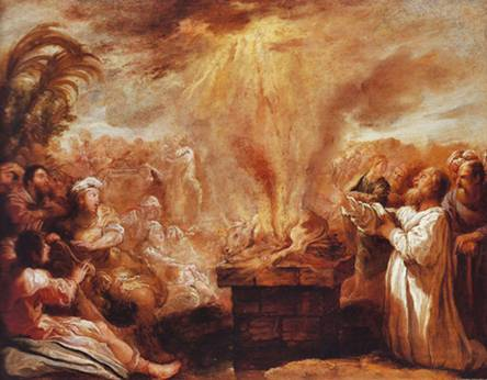 Elijah and the Prophets of Baal and Asheroth on Mount Carmel