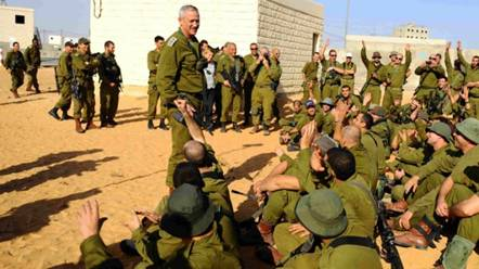 Israeli Military Command with Soldiers