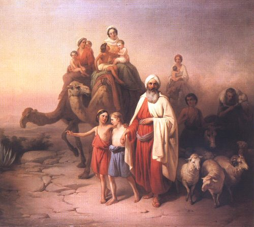 Patriarch Jacob and Family returning to Canaan