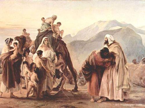 Jacob meeting Esau