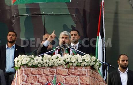 Hamas Islamist Leader Khaled Meshaal Gaza3