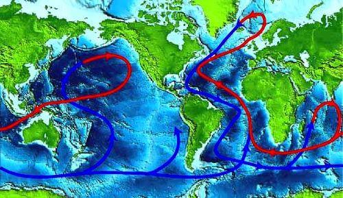 Ocean Currents Circulating World