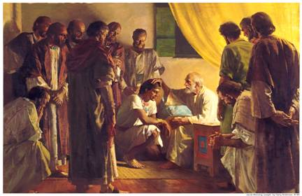 Jacob giving the Blessings of Abraham to his Twelve Sons