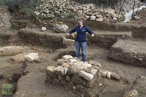 Anna Ririkh at a Temple Platform Tel Mazah