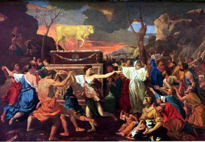 Israelites worshipping the Golden Calf