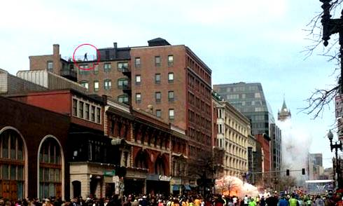 Two Fiery Explosions at the Boston Marathon