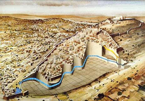 King Hezekiah's Grand Water Tunnel from Gihon to Shaloam Springs