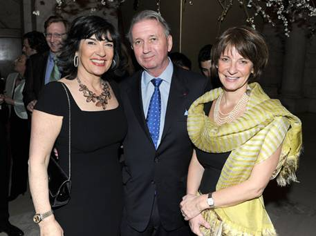 Christiane Amanpour, Terje Larson, and Mona Juul
