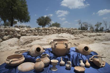 Pottery of High Quality unearthed at the Palace of King David