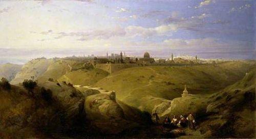 Jerusalem Kidron Valley - David Roberts 1849