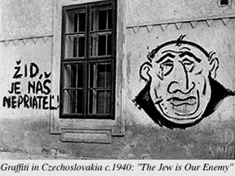 Nazi Graffiti in Czechoslovakia