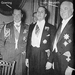 Czechoslovakian German Reich Protector, Konstantin von Neurath with Hermann Goering