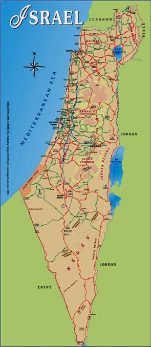 Map of New Undivided Israel