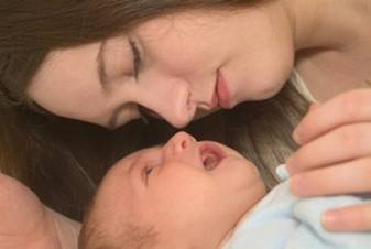 Jewish Mom with Healthy Newborn