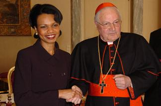 Two Secretary of States Cardinal Sodano and Condoleezza Rice