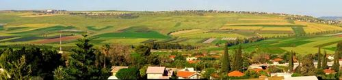 Israeli Yavne'el Valley from Villa Rimona - View of Poriah