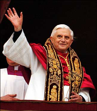 Pope Benedict XVI as New Pope in 2005