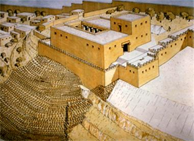 Artist Reconstruction of King David's Palace