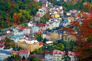 German Enclave city of Karlovy Vary (Carlsbad) in Czechoslovakia