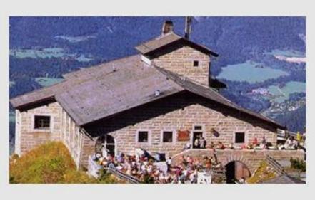 "Hitler's ""Eagle Nest"" in the Bavarian Alps at Obersalzberg"