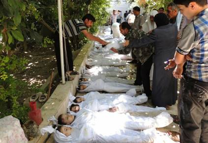 Syrian Children dead from Sarin Chemical Weapons