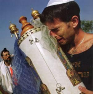 Torah Scroll taken from the Jewish Netzarim Synagogue at Gush Katif