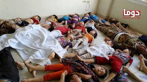 Syrian Children killed by Chemical Weapons in Damascus