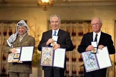 Rabin, Peres, Arafat Nobel Peace Priz