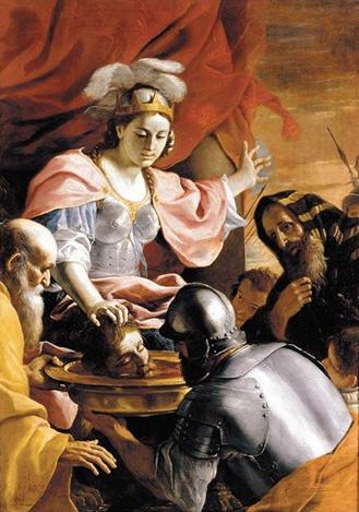 Queen Tomyris receiving the Head of Cyrus